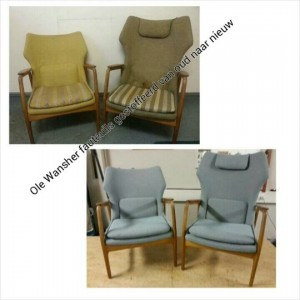 Ole Wanscher retro fauteuils, van oud naar nieuw