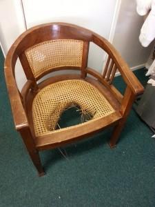 webbingstoel voor